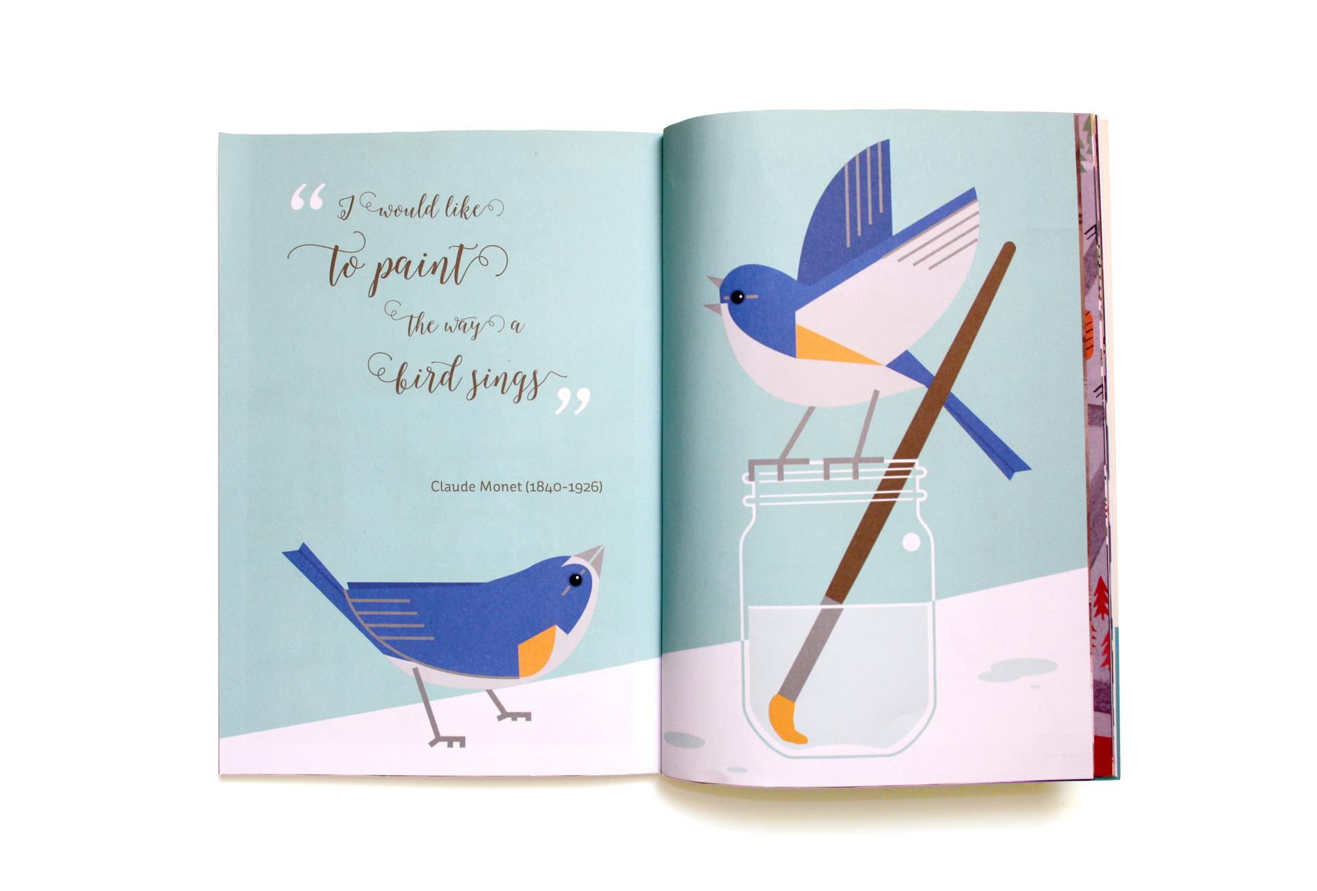 El Costurero Magazine - Portadilla Claude Manet