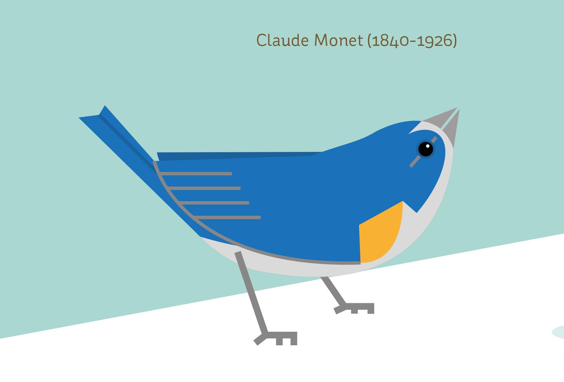 El Costurero Magazine - Portadilla Claude Manet (detalle)