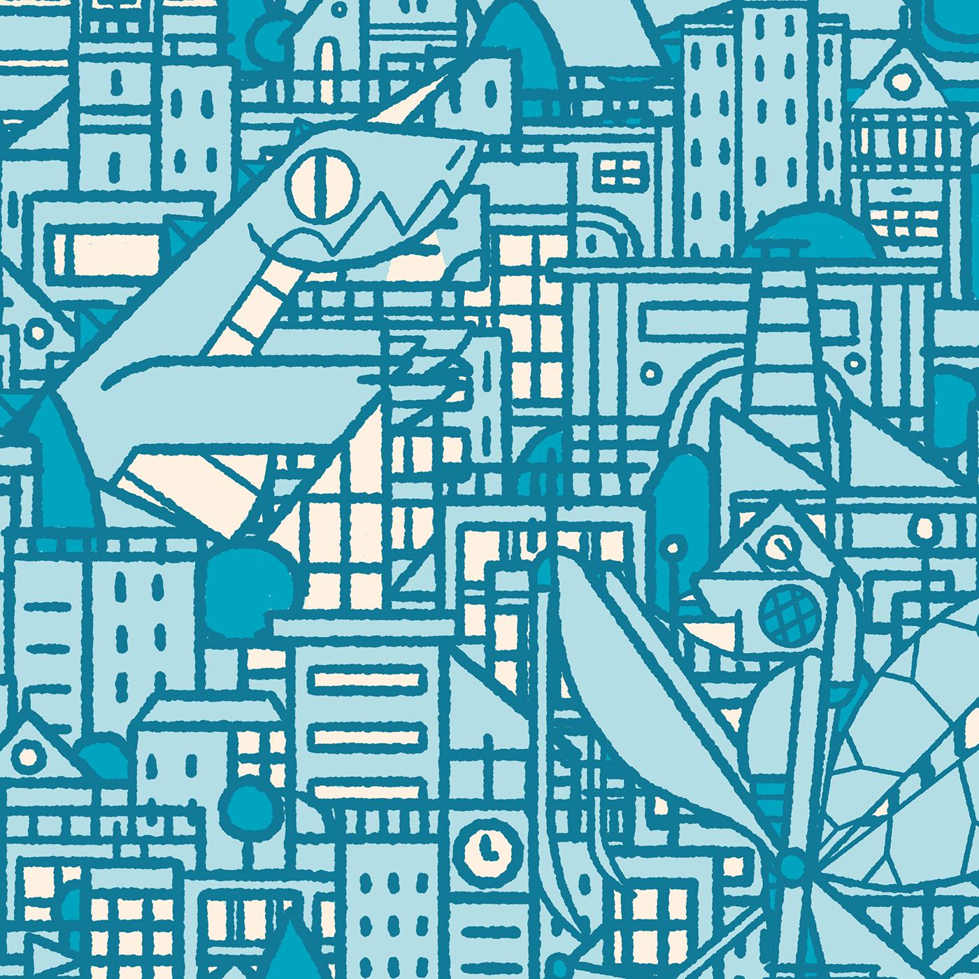 "Domestika – ""Pattern Design analógico y digital"" – Here they come"